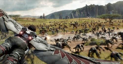Fã recria cena de chegada de Thor na batalha de Wakanda em Guerra Infinita
